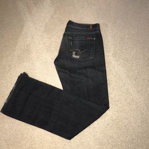 7 For all mankind distressed straight leg Jeans 30